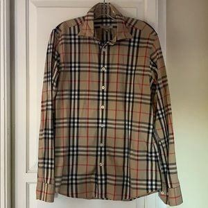 BURBERRY ICONIC STRIPE LONG SLEEVE BUTTON DOWN